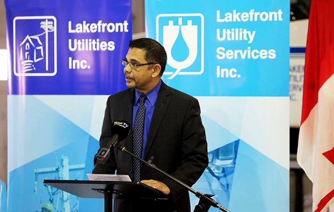 Dereck Paul, the president of Lakefront Utility Services Inc.