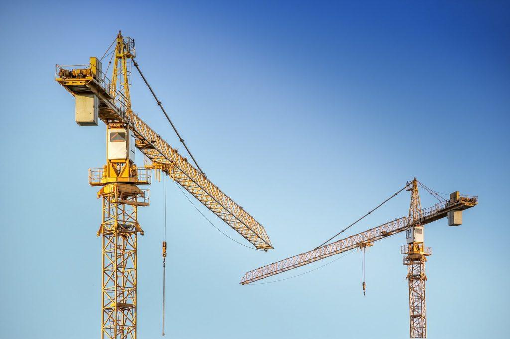 baukran, crane, metal