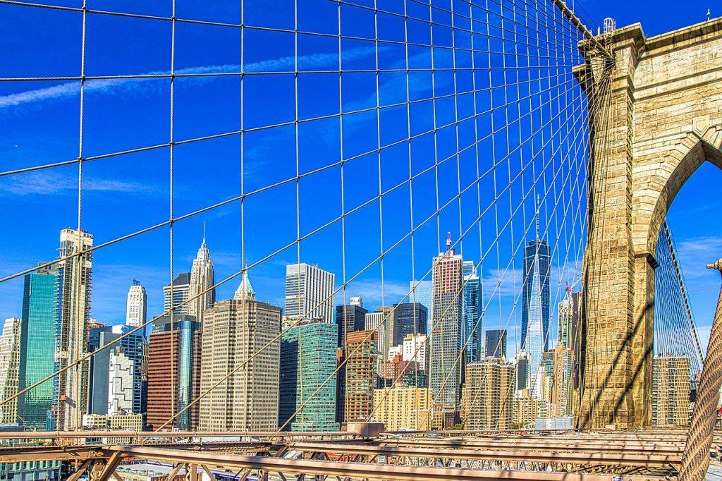 new york, view, city
